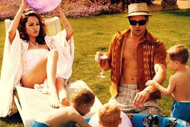 Brad Pitt Angelina Jolie W magazine