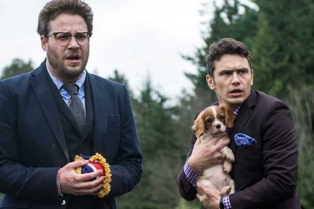 James Franco Seth Rogen Digby dog