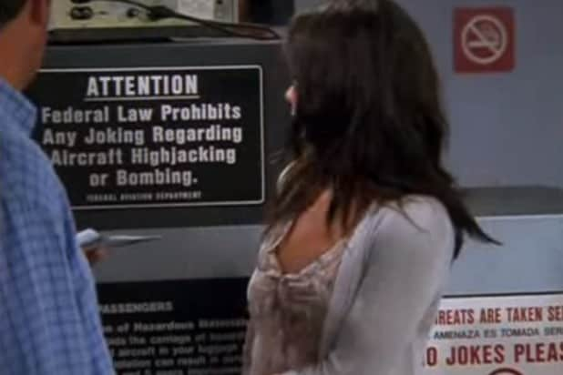 friends 911 bomb joke world trade center