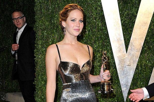 Jennifer Lawrence 2013 Vanity Fair Oscar Party]