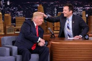 Jimmy Fallon donald Trump hair