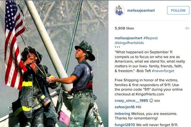 melissa joan hart 911 instagram tasteless