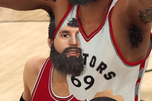 NBA 2K17 clipping body horror nikola mirotic