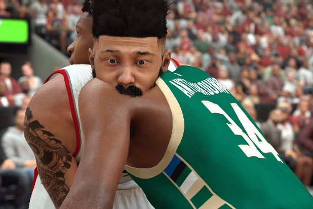 NBA 2K17 clipping body horror shoulder bite