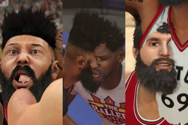 nba 2k17 ridiculous clipping photos body horror