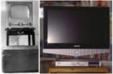 old television set new tv set