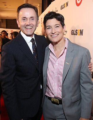 Chip Sullivan (L) and Executive Director of GLSEN Dr. Eliza Byard