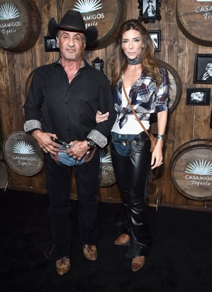 Sylvester Stallone Jennifer Flavin 2016 Casamigos Tequila Halloween Party