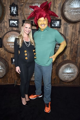 Kayte Walsh (L) Kelsey Grammer 2016 Casamigos Tequila Halloween Party