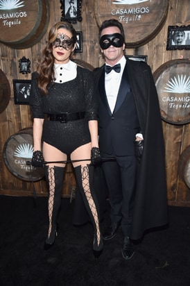 Jeff Probst (R) and Lisa Ann Russell 2016 Casamigos Tequila Halloween Party