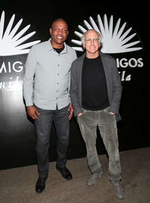 Doc Rivers and Larry David 2016 Casamigos Tequila Halloween Party