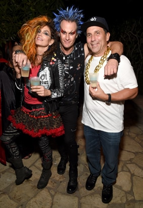 Cindy Crawford, Casamigos co-founder Rande Gerber and Discovery Land Company CEO Mike Meldman 2016 Casamigos Tequila Halloween Party