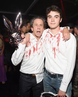 Brian Grazer and son Thomas Costa Grazer 2016 Casamigos Tequila Halloween Party