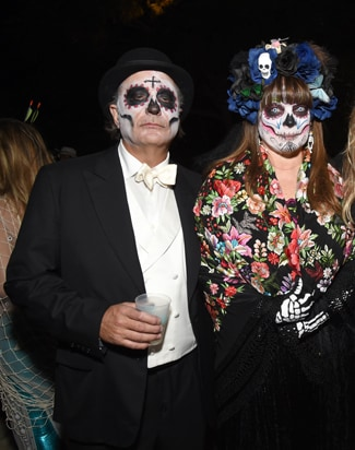 Andy Garcia (L) and guest 2016 Casamigos Tequila Halloween Party