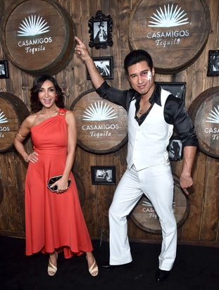 Courtney Mazza and Mario Lopez 2016 Casamigos Tequila Halloween Party