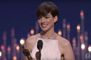 Anne Hathaway Oscar unhappy