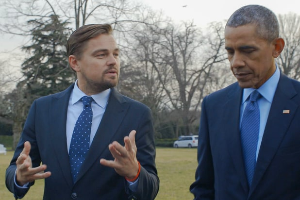 DiCaprio interviewing Obama upon Climate Change