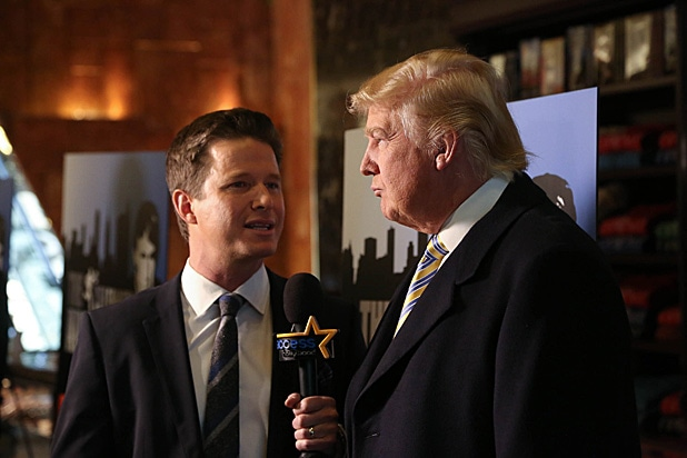 Billy Bush and Donald Trump January 2015