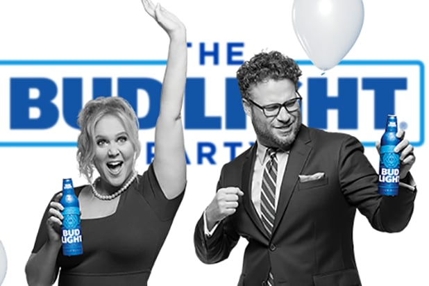 Amy schumer seth rogen bud light campaign pulled early aloadofball Choice Image