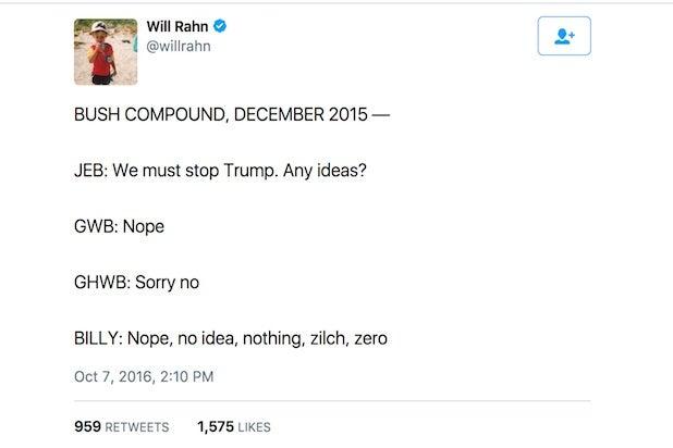 bush trump tweet