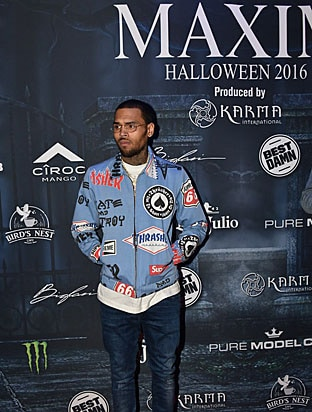 Chris Brown Maxim Halloween 2016