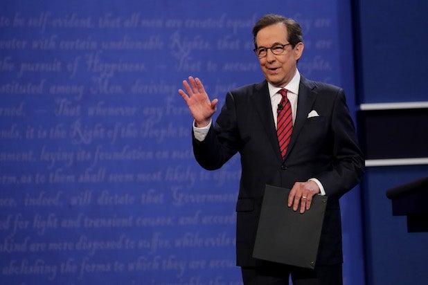 Chris Wallace Final Presidential Debate Between Hillary Clinton And Donald Trump Held In Las Vegas