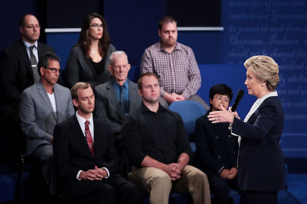 Hillary Clinton Second Presidential Debate audience