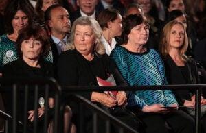 Kathleen Willey, Juanita Broaddrick and Kathy Shelton second of three presidential debates 2016 Bill Clinton accusers