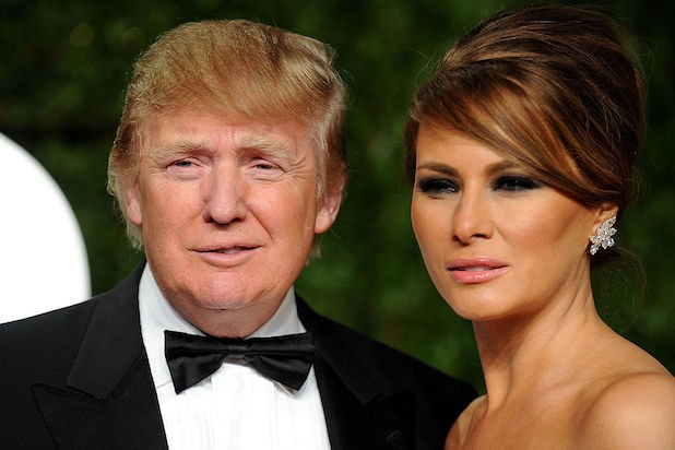 Donald Trump Melania Trump 2011 Vanity Fair Oscar Party Hosted By Graydon Carter - Arrivals