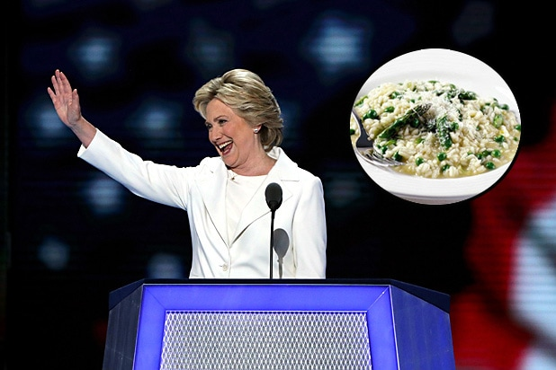 Hillary Clinton and Risotto