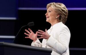 Hillary Clinton Final Presidential Debate Between Hillary Clinton And Donald Trump Held In Las Vegas