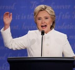 Hillary Clinton Final Presidential Debate Between Hillary Clinton And Donald Trump Held In Las Vegas Anthony Weiner