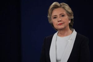 Hillary Clinton Debate 2 frown email scandal