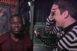 Kevin Hart Jimmy Fallon visit haunted house