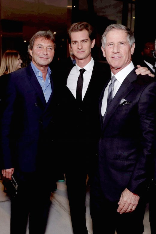 Patrick Wachsberger, Co-Chairman, Lionsgate Motion Picture Group, Andrew Garfield and Jon Feltheimer