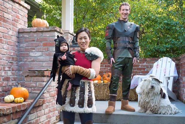 mark-zuckerberg-family in halloween costumes