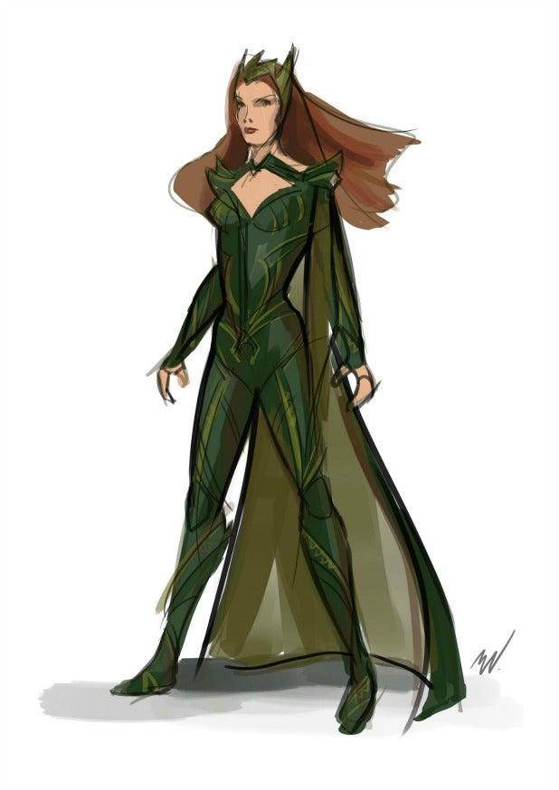Amber Heard Mera sketch 618