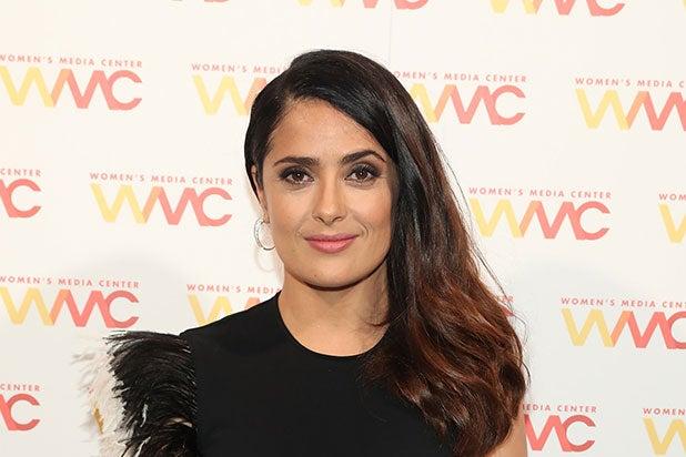 salma hayek CinemaCon donald trump