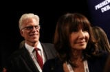 Ted Danson Mary Steenburgen Final Presidential Debate Between Hillary Clinton And Donald Trump Held In Las Vegas