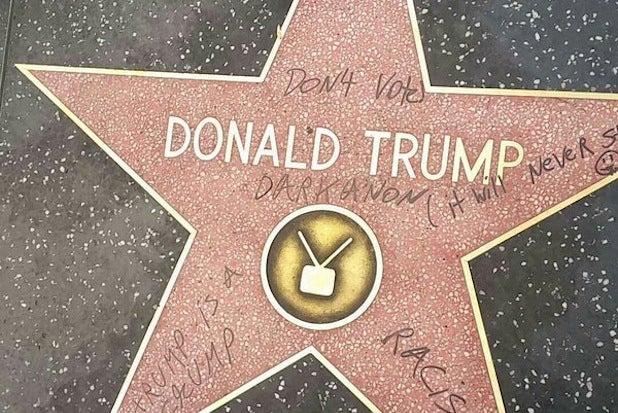 trump star vandalism