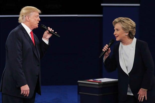 donald trump hillary clinton face off debate 2