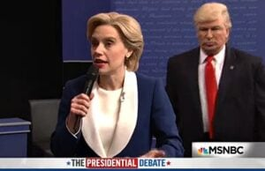 hillary clinton donald trump debate snl saturday night live alec baldwin kate mckinnon
