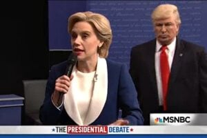 hillary clinton donald trump debate snl saturday night live alec baldwin kate mckinnon snl