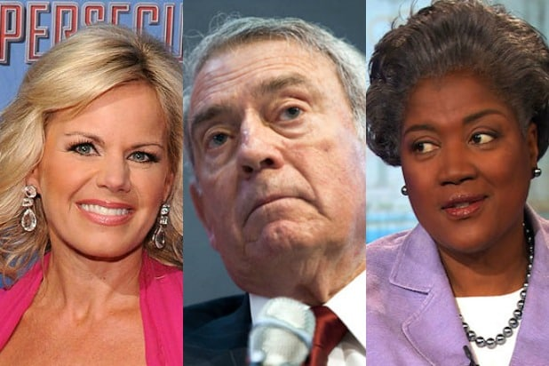 gretchen carlson, dan rather, donna brazile