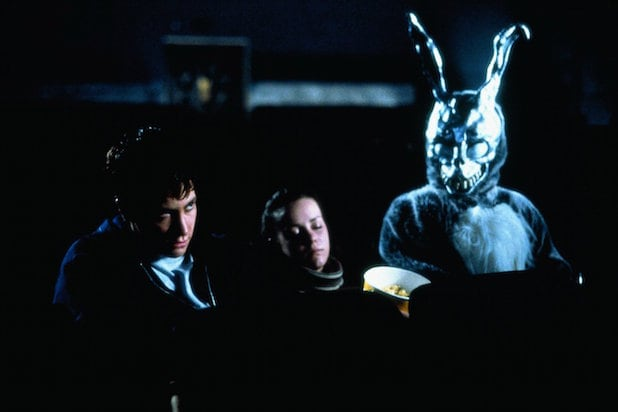 rabbit Frank donnie darko jenna malone drew barrymore jake gyllenhaal 15th anniversary