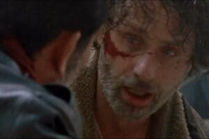 rick face walking dead twd negan