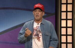 tom hanks black jeopardy make america great again trump snl saturday night live