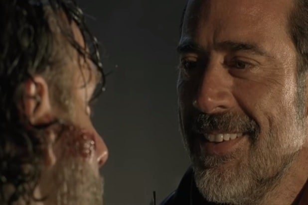 walking dead negan rick