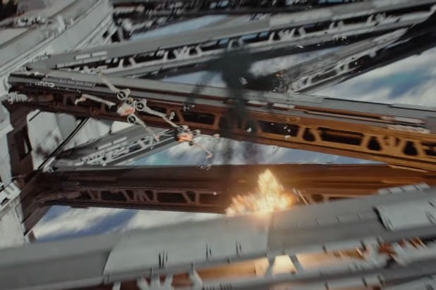 x-wing space battle rogue one a star wars story