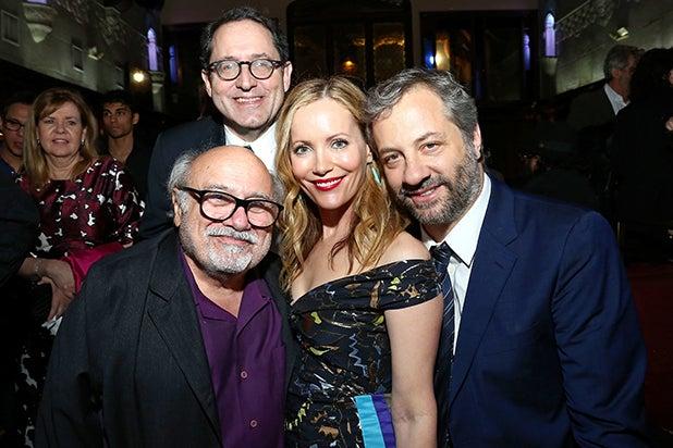 Danny DeVito, Michael Barker, Leslie Mann, Judd Apatow